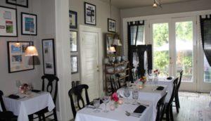 View of the Hope and Glory Inn's Irvington, Virginia, restaurant