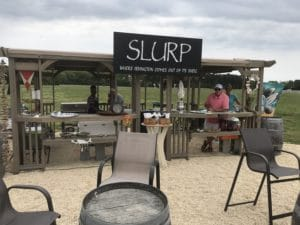 View of Slurp oyster stand