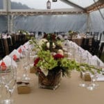 Outdoor wedding table setting 2
