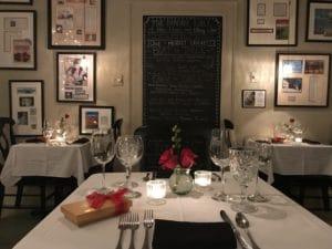 View inside the Hope and Glory Inn's Irvington restaurant