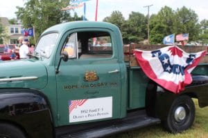 Hope and Glory Inn's truck decorated for a summertime event in the Northern Neck