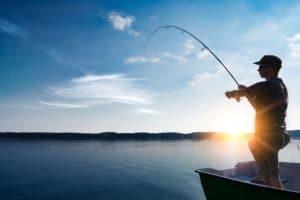 Man fishing in Deltaville