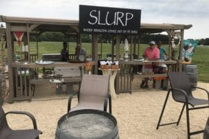 A view of the SLURP oyster stand