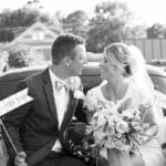A happy couple getting married at one of the best Virginia wedding venues