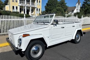 A white convertible for Virginia weddings
