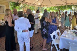 People at a wedding reception in Virginia