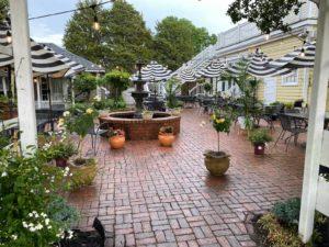 Courtyard at hope and glory inn
